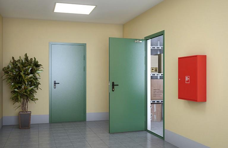 противопожарные металлические двери в наличии